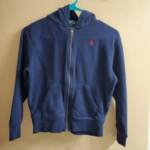 Boy's Polo Ralph Lauren Navy Zip Up Hoodie Small